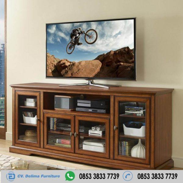 Bufet Tv Kaca Jati Jepara Minimalis