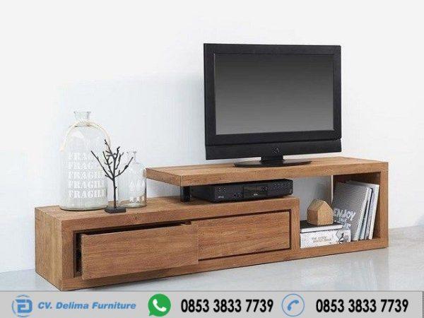 Bufet Tv 2 Laci Minimalis Kayu Jati