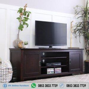 Bufet Tv Cd Minimalis Kayu Jati