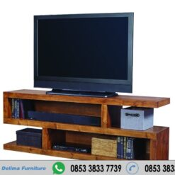 Bufet Tv Minimalis Kayu Jatai Model S