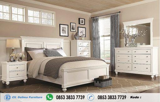 Set Tempat Tidur Minimalis Warna Putih Modern