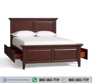 Tempat Tidur Murah Jati Jepara Berlaci