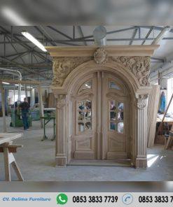 Pintu Rumah Desain Ukiran Kayu Jati Terbaru