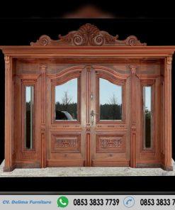 Pintu Rumah Model Ukiran Kayu Jati Terbaru