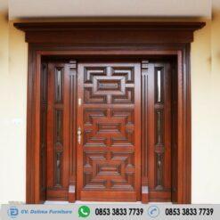 Daun Pintu Model Simpel Kayu Jati Modern