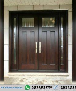 Pintu Rumah Utama Desain Simpel Kayu Jati Modern