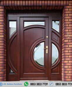 Pintu Single Model Minimalis Kayu Jati Terbaru